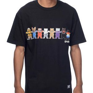 Grizzly SQUAD GOALS Tee in Black *Size XL*